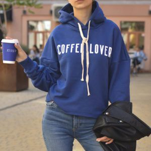Кроп-худі Coffee Lover